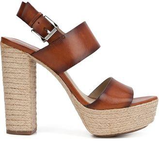 Michael Kors braided raffia platform sandals $350 thestylecure.com
