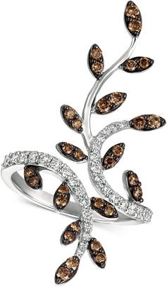 LeVian Le Vian Chocolatier Diamond Leaf Ring (1 ct. t.w.) in 14k White Gold