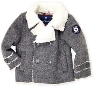 Ben Sherman Toddler Boys) Charcoal Sherpa Peacoat