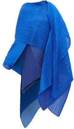 Pleats Please Issey Miyake Madame T Pleated Scarf - Womens - Blue