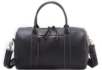 EAZO - Womens Leather Weekend Overnight Bag in Black
