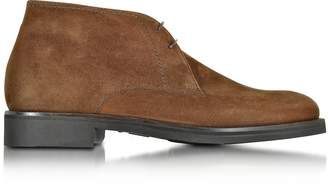 Moreschi Seattle Brown Suede Ankle Boot w/Rubber Sole