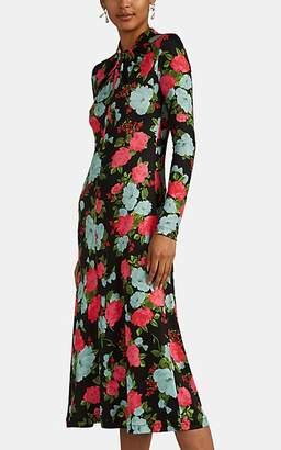Erdem Women's Nolene Floral Jersey Dress - Black Pat.