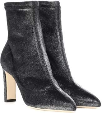 Jimmy Choo Louella 85 velvet ankle boots