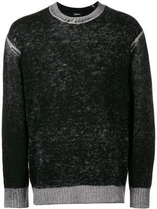 Diesel gradient knit jumper