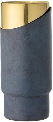 Bloomingville - Metal Vase - Blue/Gold - 23cm