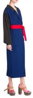 Marni Enver Colorblock Wrap Dress
