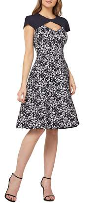 Kay Unger Cutout Cocktail Dress