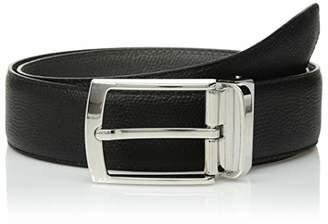 Bugatchi Men's Fashion Classic Solid Leather Belt