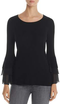 Design History Tiered Bell Sleeve Sweater