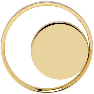 Lanvin Gold Hoop and Disc Ring