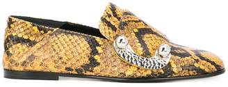 Proenza Schouler Python-Embossed Flat Loafers