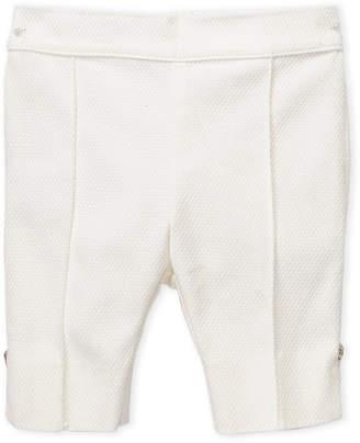 Versace Newborn Girls) Textured Flat Front Pants