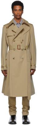 Alexander McQueen Beige Harness Light Trench Coat