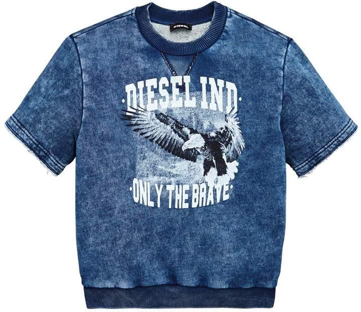 Boys Short Sleeve Printed Sweater