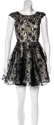 Alice + Olivia Embellished A-Line Dress w/ Tags