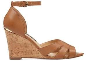Nine West Lily Leather Wedge Sandals