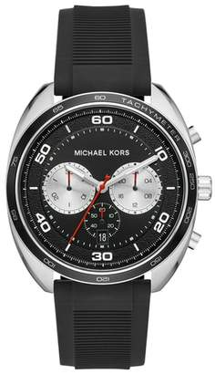 Michael Kors Dane Silicone Strap Watch, 43mm