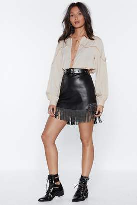 Nasty Gal Round 'Em Up Faux Leather Skirt