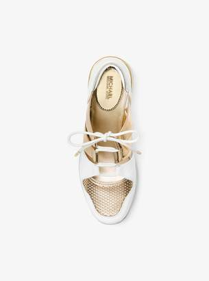 MICHAEL Michael Kors Beckett Metallic and Leather Sneaker