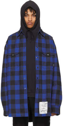 Vetements Blue Oversized Flannel Shirt