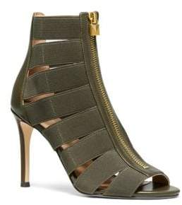 MICHAEL Michael Kors Margaret Strappy Peep Toe Ankle Boots