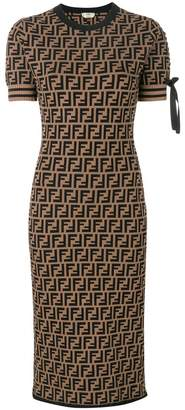 Fendi logo short-sleeve sweater dress