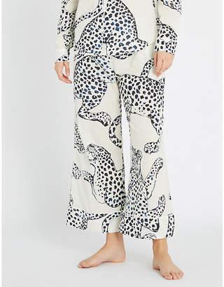 Desmond And Dempsey Wide-leg cotton pyjama bottoms