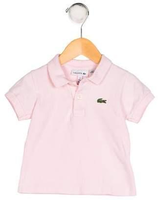 Lacoste Girls' Appliqué-Accented Knit Shirt