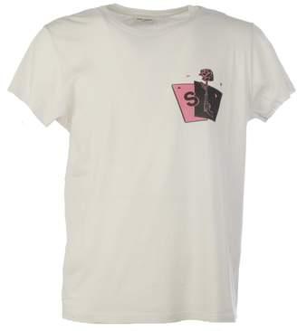 Saint Laurent Gun Rose Print T-shirt