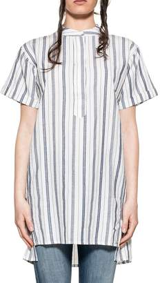 Woolrich White/blue Striped Top
