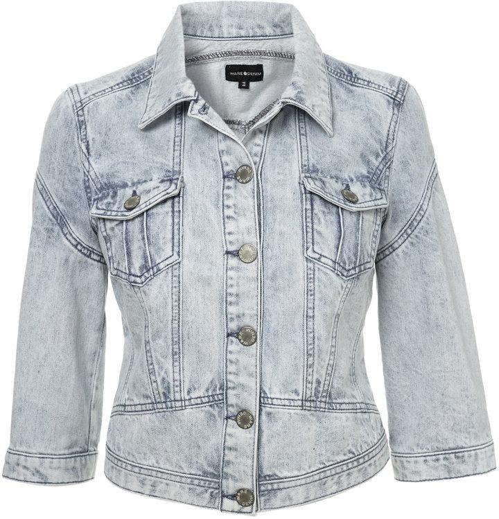 Shrunken western denim jacket