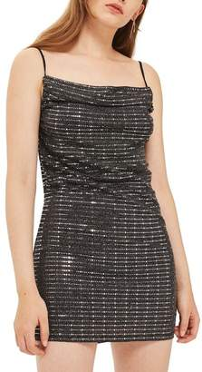 Topshop Disco Sequin Slipdress