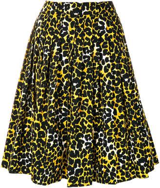 Prada leopard print pleated skirt