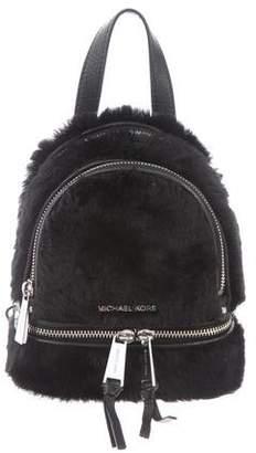 MICHAEL Michael Kors Michael Kors Fur Leather-Trimmed Backpack