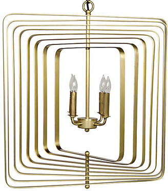 Noir Dimaclema Small Chandelier - Antiqued Brass