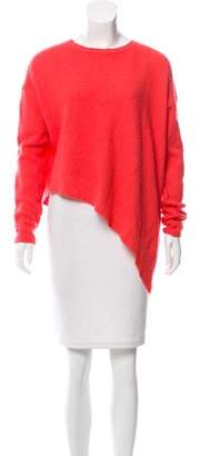 Stella McCartney Asymmetrical Silk-Cashmere Sweater