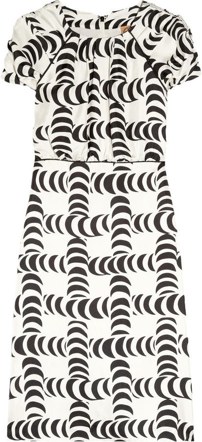 Tory Burch Shirley printed silk-satin dress