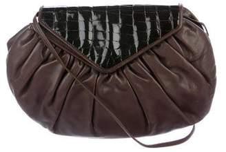 Fendi Vintage Embossed Leather Shoulder Bag
