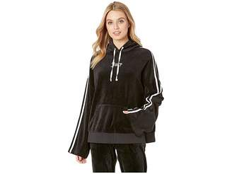 Juicy Couture Velour Side Slit Hoodie Pullover Women's Clothing
