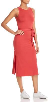 Three Dots Sleeveless Belted Midi Dress