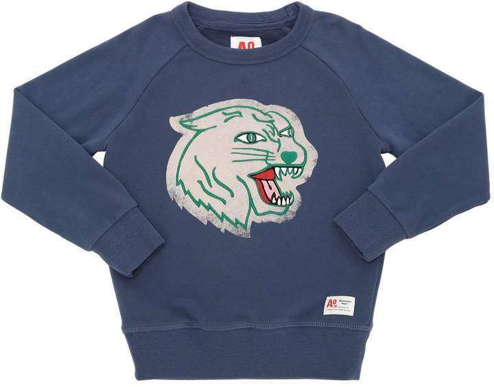 American Outfitters Panther Embroidered Cotton Sweatshirt