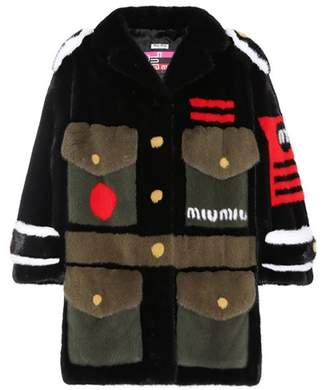 Mink fur army coat