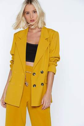 Nasty Gal Strong Suit Double Breasted Blazer