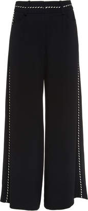 Peter Pilotto Corded Crepe Wide-Leg Culottes