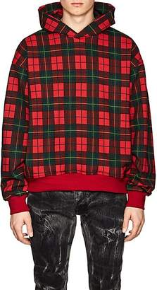 Fear Of God Men's Plaid Cotton Terry Oversized Hoodie