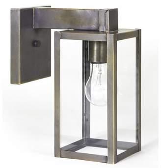 Liliana Union Rustic Outdoor Wall Lantern Union Rustic Shade Finish: Clear Seedy Glass, Fixture Finish: Dark Brass