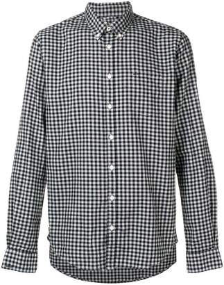 Sun 68 checked button-down shirt