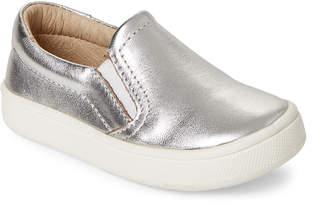 Old Soles Toddler Girls) Silver Metallic Dressy Hoff Slip-On Sneakers