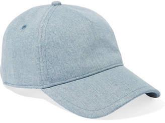 Rag & Bone Marilyn Leather-trimmed Denim Baseball Cap - Light denim